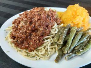 Beef & Mushroom Bolognese with Spaghetti