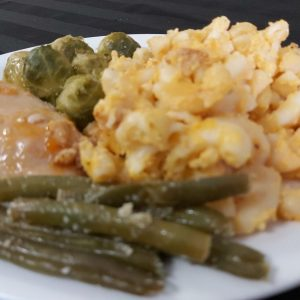 Baked Mac 'n Cheese with Chicken of the Day