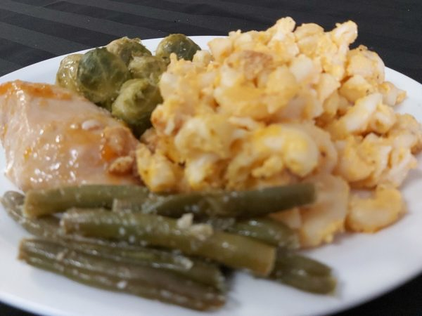 Baked Mac n Cheese with Chicken of the Day