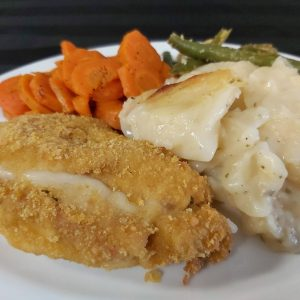 Cordon Bleu Chicken with Scalloped Potatoes