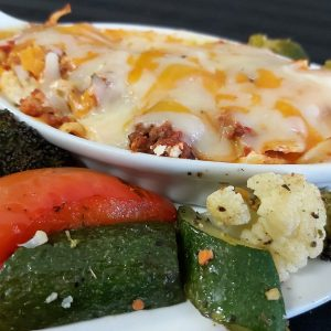 Cheesy Beef Lasagna with Vegetables